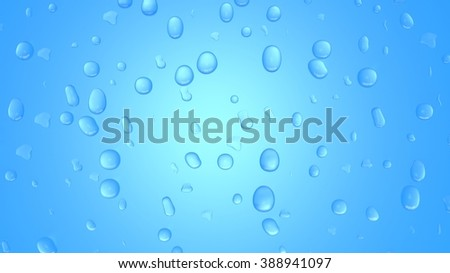 Blue abstract background with water drops