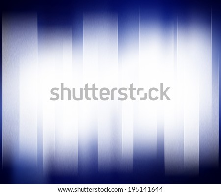 Blue abstract background with white strip light for presentation - stock photo