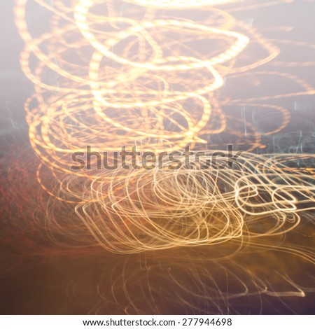 Blue abstract car lights - stock photo