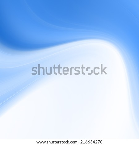 Blue Abstract Curvy Background