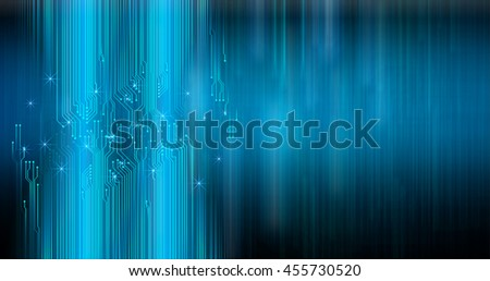 blue abstract cyber future technology concept background, illustration, circuit,
