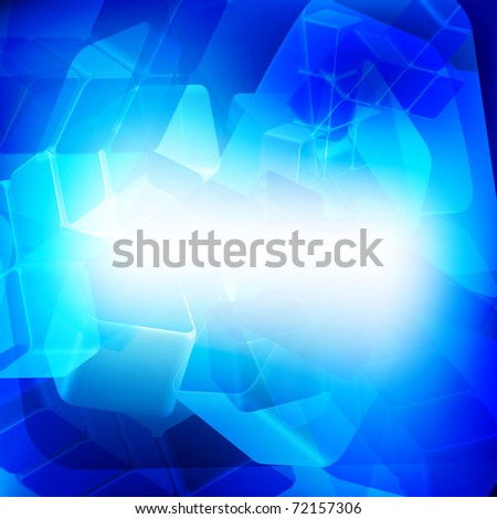 Blue abstract digital light background - stock photo