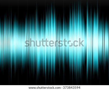 Blue abstract digital sound wave on a black background. - stock photo