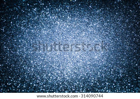 Blue abstract glitter shiny background. Blue glitter texture for background - stock photo