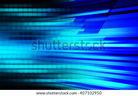 Blue abstract hi speed internet technology background illustration. eye scan virus computer.fast move motion.