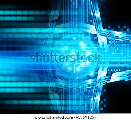 Blue abstract hi speed internet technology background illustration. eye scan virus computer. motion move. Spark