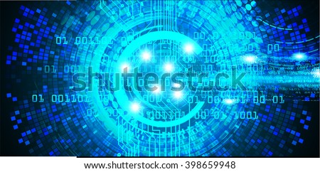 Blue abstract hi speed internet technology background illustration. wave