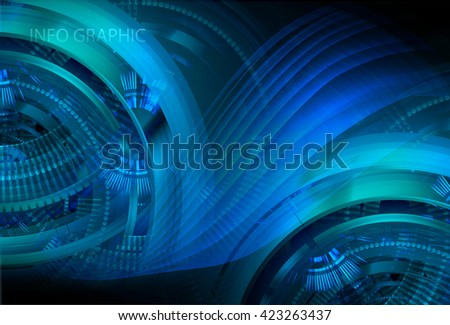 blue abstract light hi speed internet technology background illustration, Background conceptual image of digital. eye scan virus computer. motion move graphic