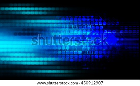 blue abstract light hi speed internet technology background illustration, Background conceptual image of cyber digital. eye scan virus computer. motion move speed, graphic.