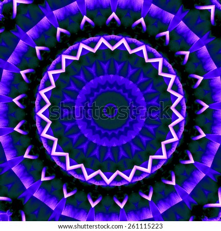 blue abstract mandala design. beautiful round background