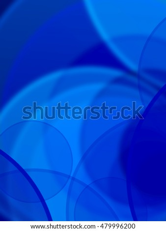 Blue abstract round frame with place for text