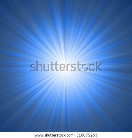 Blue Abstract Star Burst Background