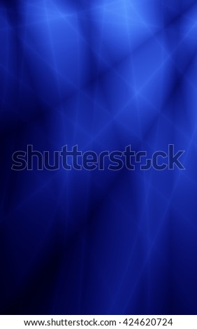 Blue abstract storm modern wide background - stock photo