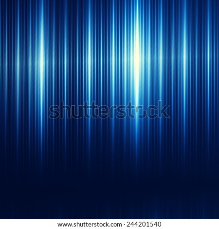 Blue Abstract Technology Background - Brushed Iron Texture - Modern Illustration - Minimalistic Digital Tablet or Desktop Computer Backdrop - Industrial Stainless Steel - Presentation Design - - stock photo