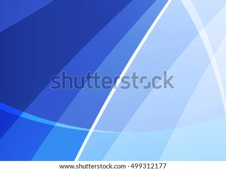 Blue abstract template for card or banner. Metal Background with waves and reflections