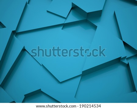 Blue abstract triangle background rendered - stock photo