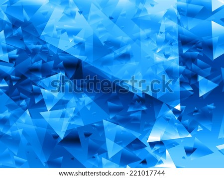 blue abstract triangles background texture   - stock photo