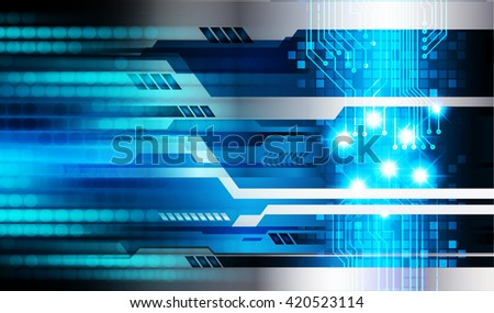 blue abstract vector light hi speed internet technology background illustration, Background conceptual image of digital. eye scan virus computer. motion move graphic.