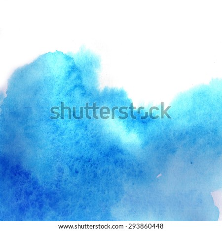 Blue abstraction in watercolor