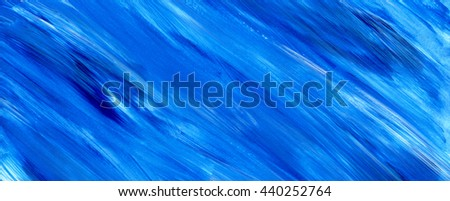 Blue acrylic brush stroke background, texture. Grunge paper. Ocean, water, sky, maritime theme backdrop for scrapbook elements with space for text. - stock photo