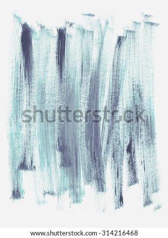 Blue acrylic texture painted with dry brush. Hand drawn illustration.