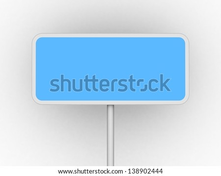 Blue  advertising stand. With space for your text and picture. 3d render blank trade show booth for designers - stock photo