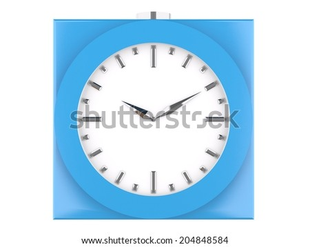 blue analog clock