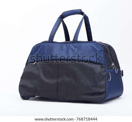 Blue and Back Travelling Bag