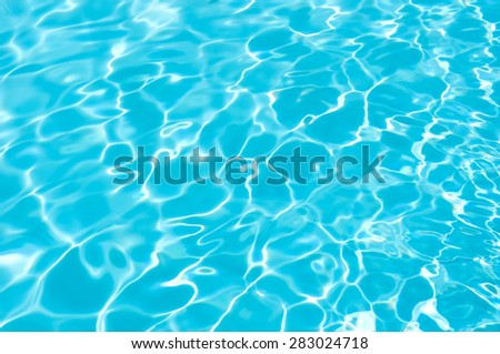 Blue and Bright water surface in swimming pool