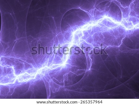 Blue and cyan electric lighting, abstract electrical background - stock photo
