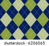 Blue and green argyle - stock vector