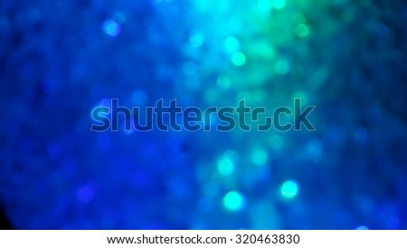 Blue and green bokeh background