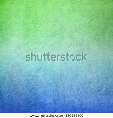 Blue and green concrete background texture - stock photo