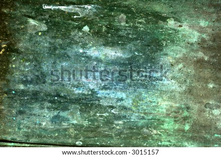 Blue and green grungy textured background. - stock photo