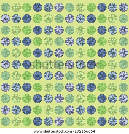 Blue and Green Spheres - stock photo