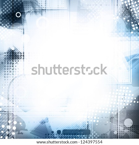 Blue and grey abstract digital background. Rasterized version