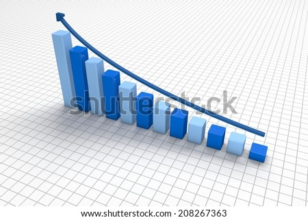 blue and light blue 3d growth chart