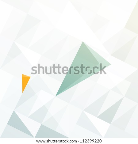 Blue and orange diamond shaped arrows on light gray patched surface. Raster version, vector file available in portfolio. - stock photo