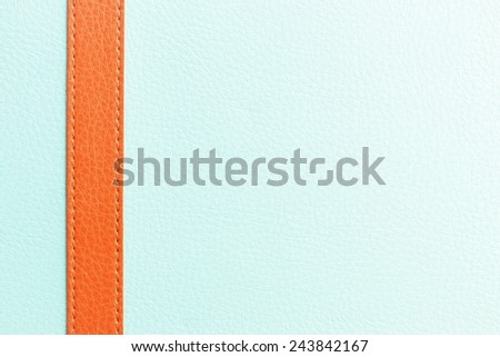 Blue and orange  leather texture