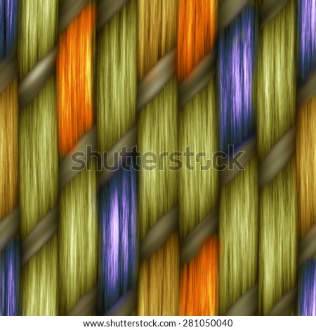 blue and orange seamless weaving texture pattern wood  or hair - stock photo