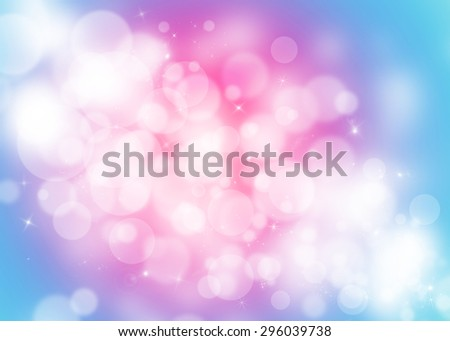 Blue and pink bokeh glitter defocused lights abstract background - stock photo
