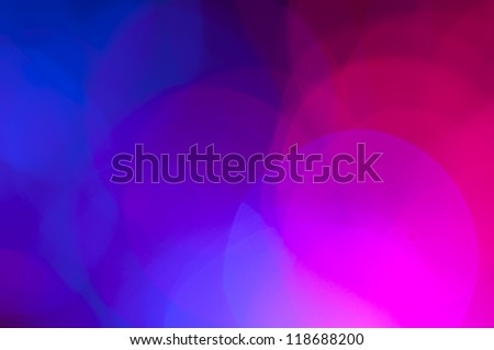 Blue and pink festive lights and circles background. Christmass lights - stock photo