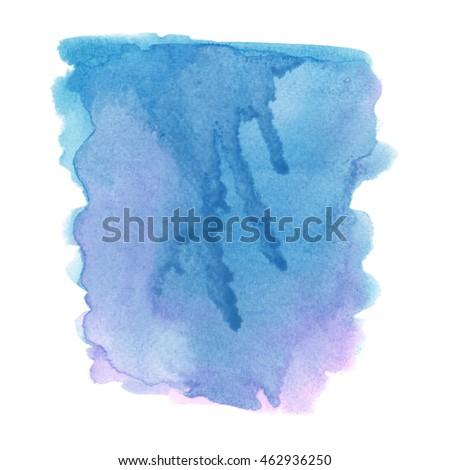Blue and pink grunge watercolor on white background.