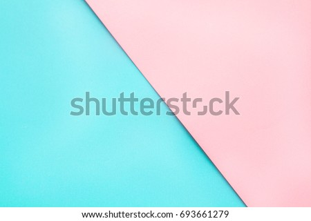 Blue Pink Pastel Color Paper Geometric Stock Photo Safe to Use