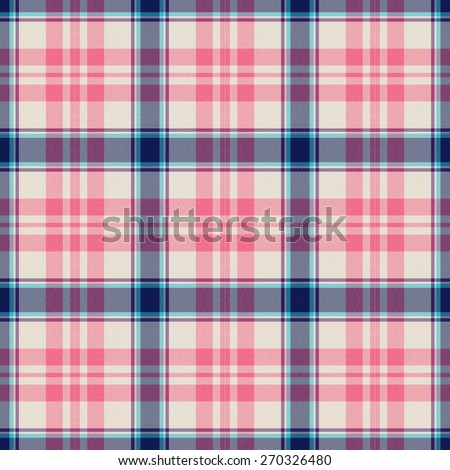 blue and pink Tartan textile seamless background