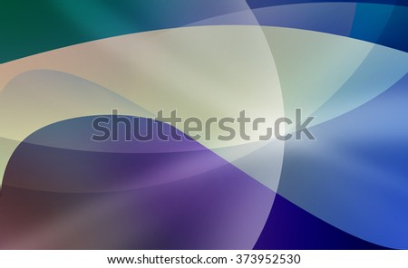 blue and purple abstract background with curved lines and layers pattern - stock photo