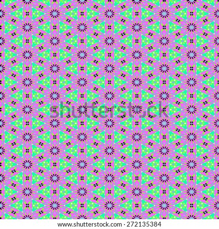 blue and purple Decorative seamless pattern in ethnic geometric style - stock photo