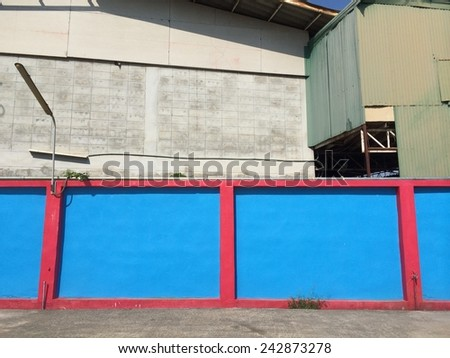 Blue and red Color wall