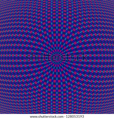 Blue and Red Geometric Circles/Digital abstract image with a geometric concentric ring design in blue and red.