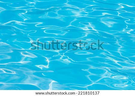 Blue and transparent water texture pattern